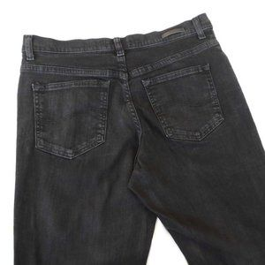 Lee Relaxed Jeans Washed Black Mid Rise Straight 8